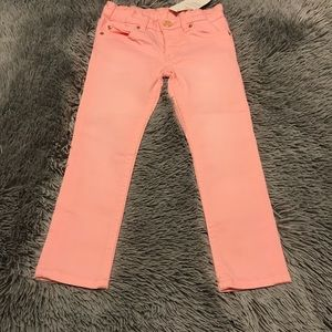 NWT H & M NEON PINK SKINNY JEANS